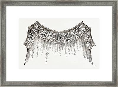 Chemise, Needlework Framed Print by Litz Collection