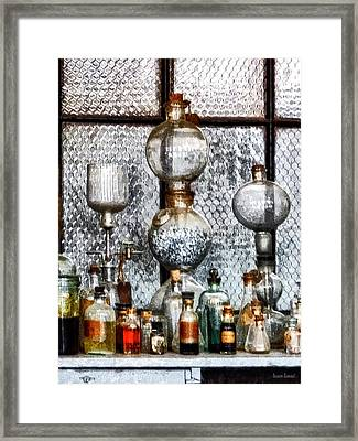 Chemist - Laboratory Glassware Framed Print by Susan Savad