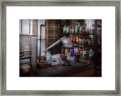 Chemist - My Retort Is Better Than Yours  Framed Print