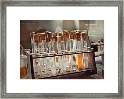 Chemist - Specimen Framed Print by Mike Savad