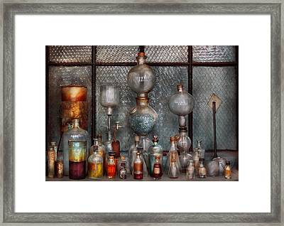 Chemist - The Apparatus Framed Print by Mike Savad