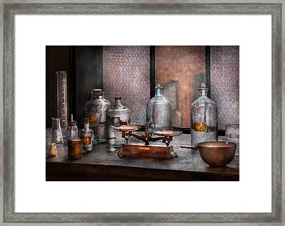 Chemist - The Art Of Measurement Framed Print by Mike Savad