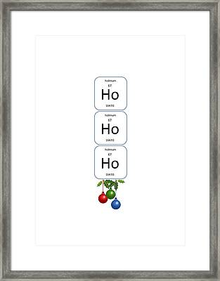 Chemistry - Ho Ho Ho Bell Pull Framed Print