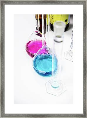 Chemistry Laboratory Framed Print by Photostock-israel