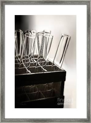 Chemistry Test Tubes Framed Print by Danuta Bennett