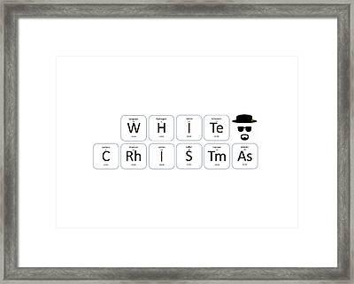 Chemistry - White Christmas Framed Print