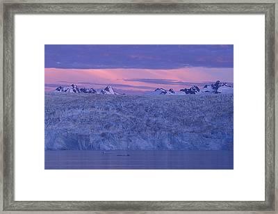 Chenega Glacier At Sunrise Framed Print by Tim Grams