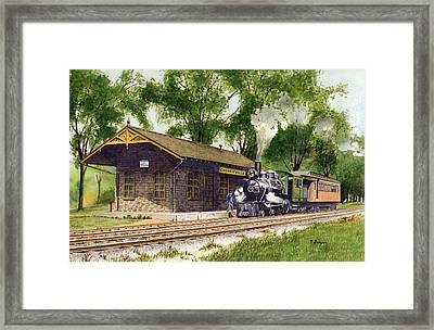 Cheneyville Station Framed Print