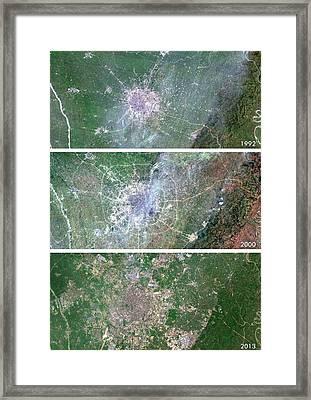 Chengdu Urban Spread Framed Print