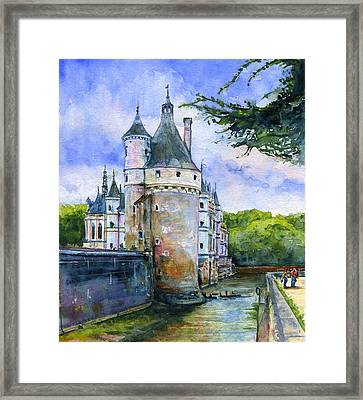 Chenonceau Castle France Framed Print