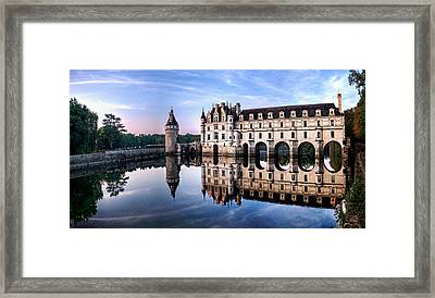Chenonceau Castle In The Evening Framed Print
