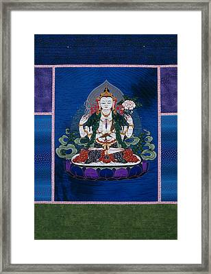 Chenrezig Framed Print by Leslie Rinchen-Wongmo
