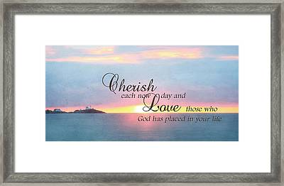 Cherish Love Framed Print by Lori Deiter