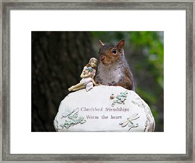 Framed Print featuring the photograph Cherished Friendships by John Haldane