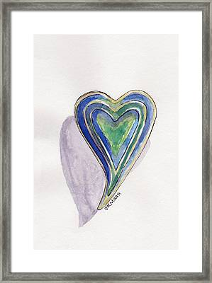 Cherished Heart Framed Print by Julie Maas