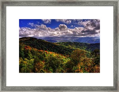 Cherohala Skyway Brushy Ridge Overlook Framed Print