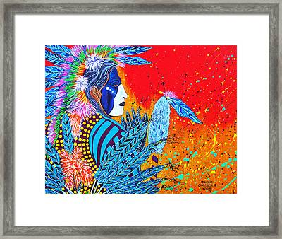 Cherokee Dancer Framed Print
