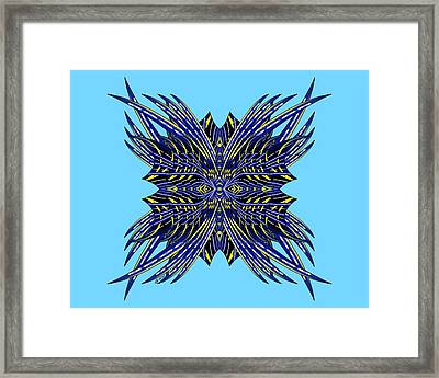 Cherokee Indian Head Dress Framed Print by Brian Johnson