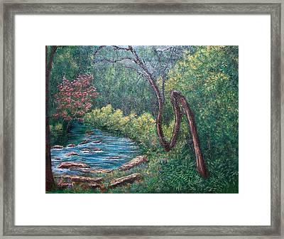 Cherokee Marker Framed Print by Sandy Hemmer
