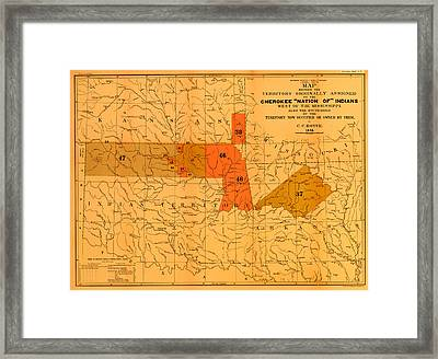Cherokee Nation Of Indians 1884 Framed Print by Mountain Dreams