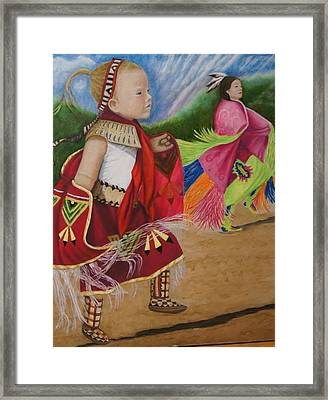 Cherokee Ribbon Dancers Framed Print