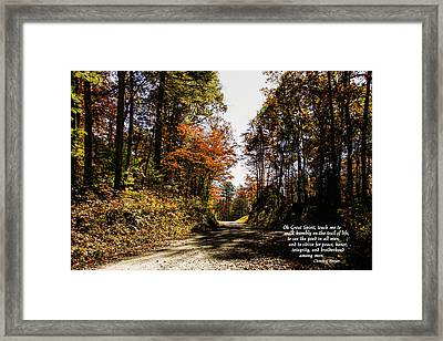 Cherokee Trail Framed Print by Marilyn Carlyle Greiner