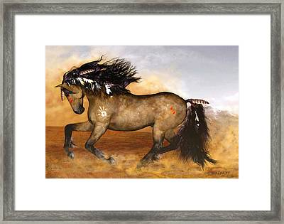 Framed Print featuring the painting Cherokee by Valerie Anne Kelly