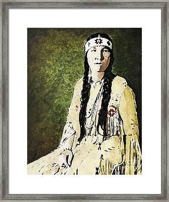 Cherokee Woman Framed Print by Lianne Schneider