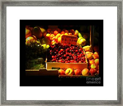 Cherries 299 A Pound Framed Print by Miriam Danar