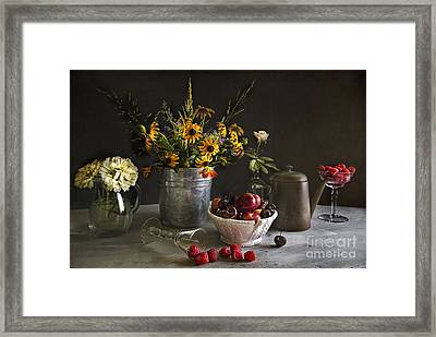 Cherries And Berries Framed Print