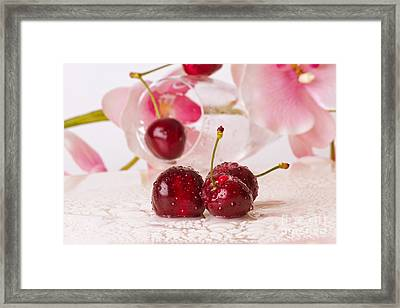 Cherries Framed Print by Christine Sponchia
