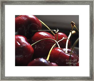 Cherries Close Up Framed Print