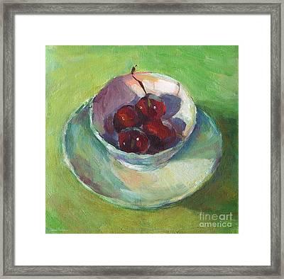 Cherries In A Cup #2 Framed Print by Svetlana Novikova
