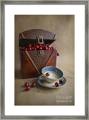 Cherries In The Box Framed Print by Elena Nosyreva