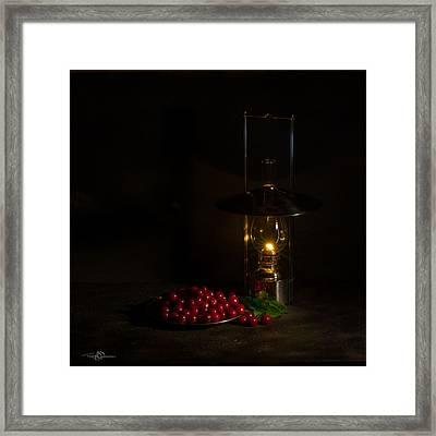 Cherries In The Night Framed Print