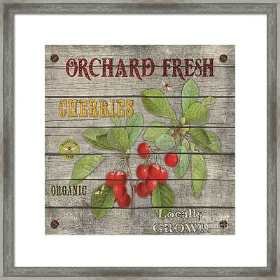 Cherries-jp2675 Framed Print by Jean Plout