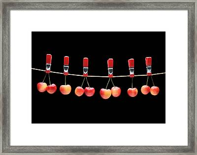 Framed Print featuring the photograph Cherries by Krasimir Tolev