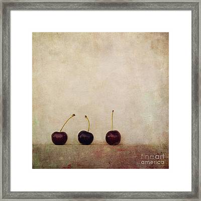 Cherries Framed Print by Priska Wettstein