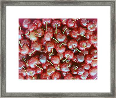 Cherries Framed Print by Romulo Yanes