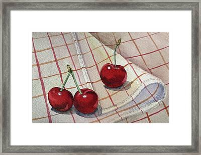 Cherry Talk By Irina Sztukowski Framed Print by Irina Sztukowski