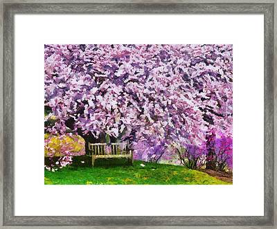 Framed Print featuring the painting Cherry Blossom by Georgi Dimitrov