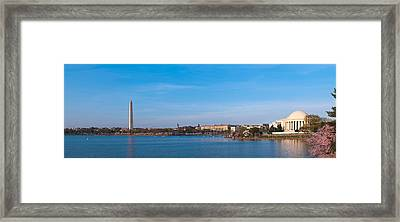 Cherry Blossoms At The Tidal Basin Framed Print by Panoramic Images