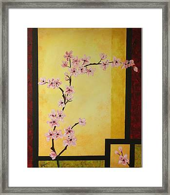 Cherry Blossoms Framed Print by Dawn Grice