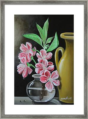 Cherry Blossoms Framed Print by Gani Banacia