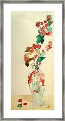 Cherry Blossoms Framed Print by Janet Gunderson
