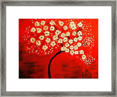Cherry Blossoms Framed Print by Shelia Gallaher Chancey