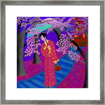 Cherry Blossoms Framed Print by Latha Gokuldas Panicker