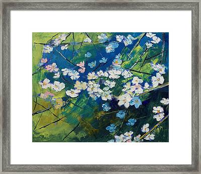 Cherry Blossoms Framed Print by Michael Creese