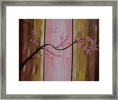 Cherry Blossoms Framed Print by Monica Art-Shack