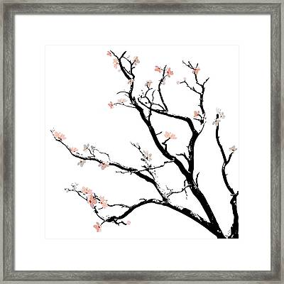 Cherry Blossoms Tree Framed Print by Gina Dsgn